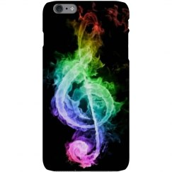 Neon music note phone case.