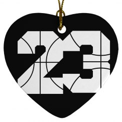 Trendy Customizable Basketball Girl Ornament Gift