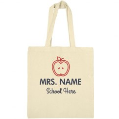 Personalized Mrs. Name Teacher Bag