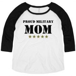 Proud Army Mom Plus Raglan