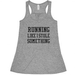 Funny Running Like I Stole Tank