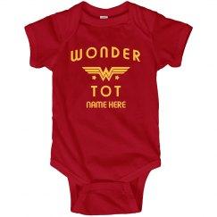 Custom Name Wonder Tot Onesie