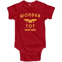 Custom Name Wonder Tot Bodysuit