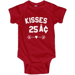 Kisses Valentine's Day Onesie