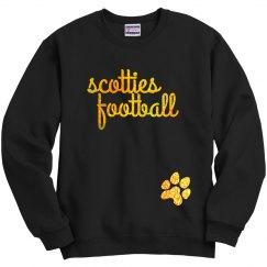 TV Football Glitter Sweatshirt