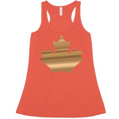 Autumn leaf tank top.