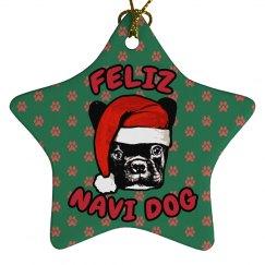 Feliz Navi-Dog Ornament