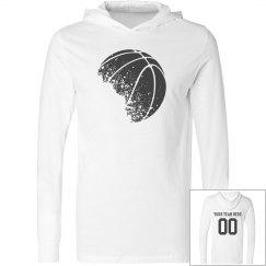 Custom Team Name, Number Basketball Long Sleeve Shirt