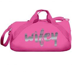 Metallic wifey bag