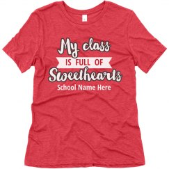 Custom Teacher Sweetheart Tee
