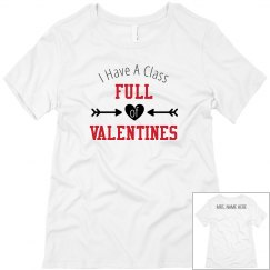 Class Full of Valentines Custom Name Tee