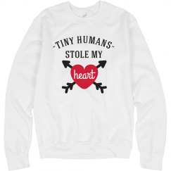 Funny Teacher Valentine Heart Sweater