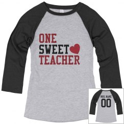 Custom Name & Number Sweet Teacher Tee