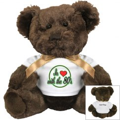 Love The 80's Brown Teddy