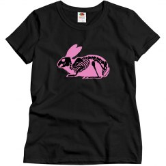 Pink and Black Skeleton Rabbit