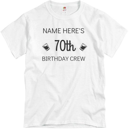 70 Birthday Crew Unisex Basic Promo T Shirt