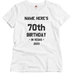 In Vegas 70th Birthday
