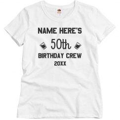 Custom 50th Birthday Matching Group
