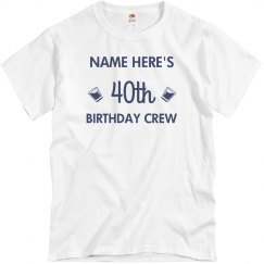 795435c04 Unisex Basic Promo Tee · Customizable 40th Birthday Design