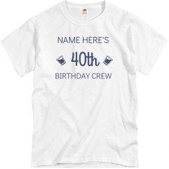 Customizable 40th Birthday Design
