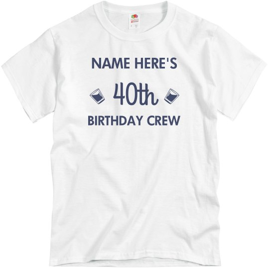 3ef90a52 Customizable 40th Birthday Design Unisex Basic Promo T-Shirt