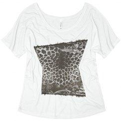 Leopard print white tee