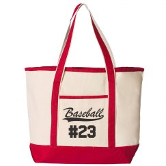 Baseball Mom Gear Bag Custom Number