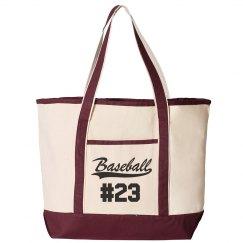 Baseball Mom Gear Bag Custom Number