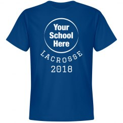 Custom Upload School Logo Lacrosse Tee