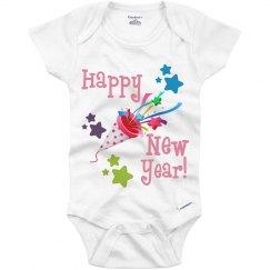Happy new year onesie