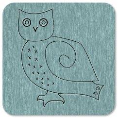 Cute Primitive Snowy Owl