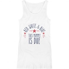 Fourth of July Maternity Tank
