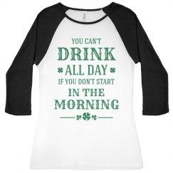 Funny St Patricks Drinking Shamrock