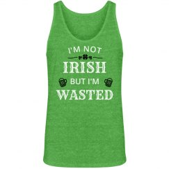 Not Irish But Wasted Mens Tank
