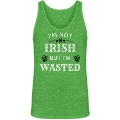 Not Irish But Wasted Mens Tank