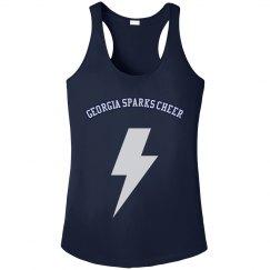 Georgia Sparks Cheer LADIES ATHLETIC PERFORMANCE BRA