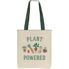 Plant Powered Fruit & Veggie Grocery Tote Bag
