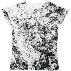 High Contrast White Marble Print