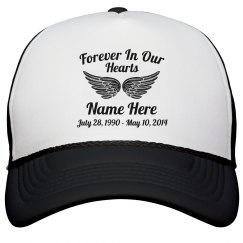 Rest In Peace Wings Hat