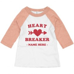 Heart Breaker Custom Toddler Raglan