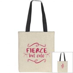 Fierce But Cute Cheer Tote Bag