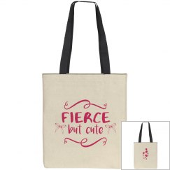 Fierce But Cute Cheer Tote Bag