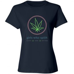 Girls Who Splift Navy Tee