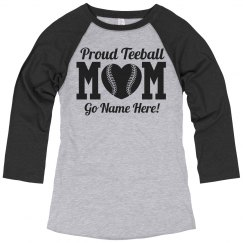 Teeball Mom Jersey Pride Custom