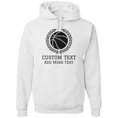 Add Custom Text Basketball Hoodie