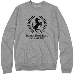 Custom Mustang School Mascot Sweater