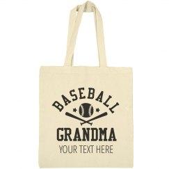 Custom Grandma Baseball Tote