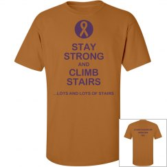 Stay Strong Climb Stairs-men's tall t-shirt