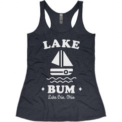 Just a Lake Bum Custom Cute Boat Vacation Tank