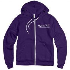 Unisex Fleece Full Zip Midweight Hoodie PURPLE